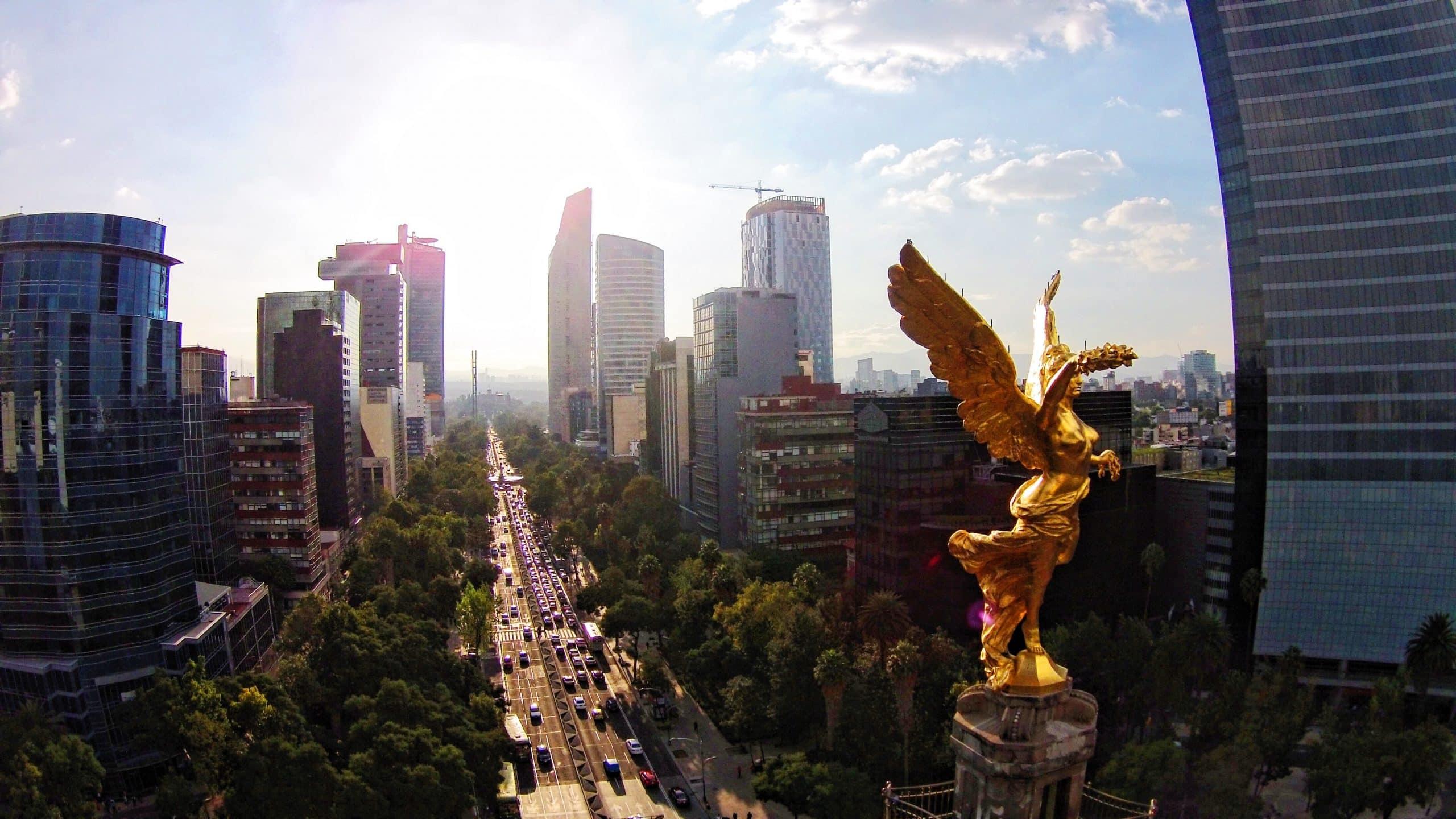 Aerial view of Juarez Neighborhood in Mexico City