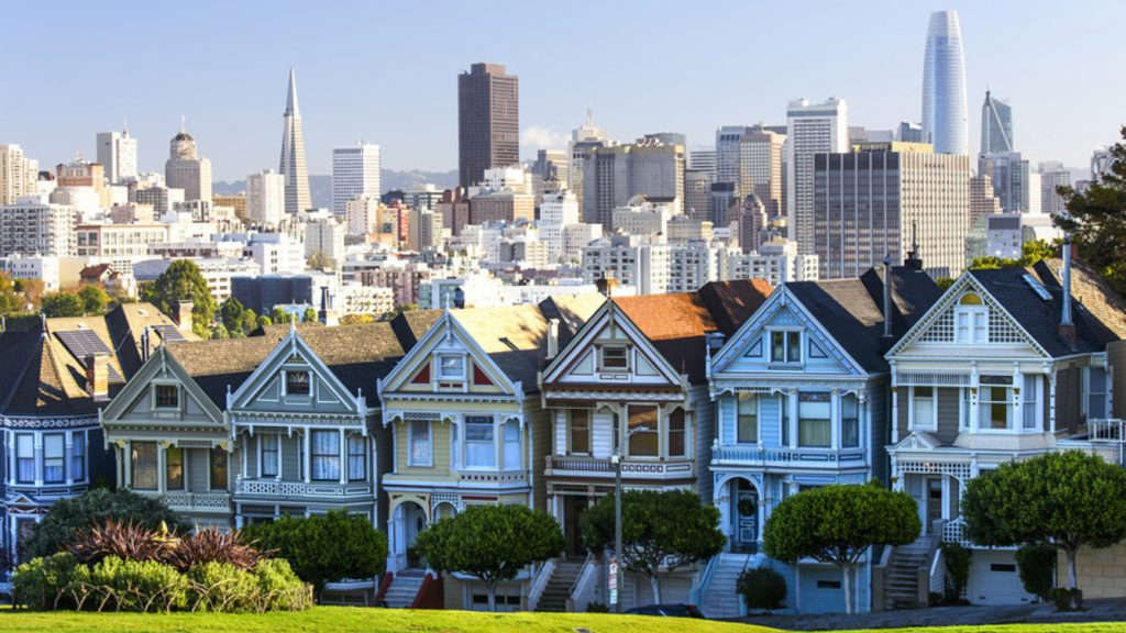San Francisco's housing view from above